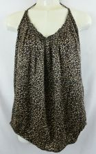 Buy Express Large Leopard Silk Blouse shirt Animal Print