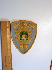 Buy 1980's Era Burlington Fire, MA Sew on Cheese Cloth Patch