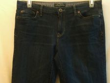 Buy Eddie Bauer dark denim Jeans 8/29 Classic Straight Leg