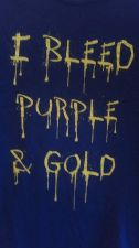 Buy Gildan Purple Gold Tshirt Medium Cotton Bleed