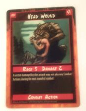 Buy Rage Head Wound Trading Card Combact Action 1995 Rage 5 Damage 2