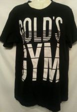 Buy Golds Gym Tshirt Small Black White Cotton unisex Fitness Exercise S