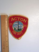 Buy 1980's Era Acton, MA Fire Sew on Cheese Cloth Patch