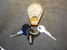 Buy Vintage Chrysler Leather Brass Fob Plymouth Dodge with Car Keys