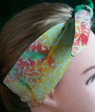 Buy Headband hair wraptie bandana Hippie Boho 100% Cotton Batiks hand made