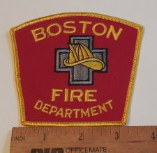 Buy 1980's Era Boston, MA Fire Sew on Cheese Cloth Patch