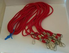 Buy Clip String Lanyard Red Lot 9 New