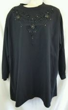 Buy Bobbie Brooks Xlarge Black Shirt XL Ribbon detail
