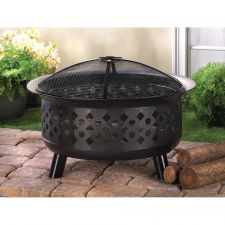 Buy set the scene of evening outdoor fun with this geometric firepit