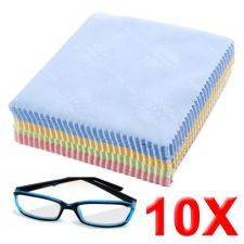 Buy 10 x Microfiber Micro Fibre Cleaner Camera Lens Glasses Cleaning Cloth Wipes