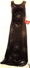 Buy Giorgio Sant' Angelo Dress 12 Black Silver glitter floral Cocktail Holiday NWT