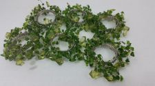 Buy Set of 6 Green Beaded Napkin Rings Holiday Silver