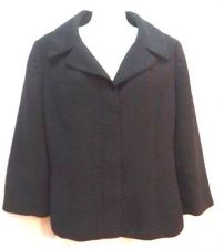 Buy Ann Taylor Loft Blazer 8 Black Crop Jacket Career Womens polyester