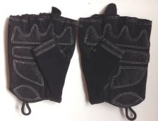 Buy Black Fitness Gloves for Women with Lightly Padded Palm, Large