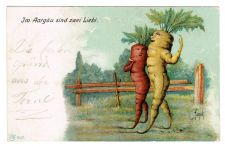 Buy VERY RARE 1905 VEGETABLE VEGGIE PEOPLE VINTAGE POSTCARD ANTHROPOMORPHIC SCHMIDT