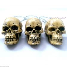 Buy 3 x Skull Bonehead Resin Handmade Key Chain Collectibles Keyring Keychain Gift