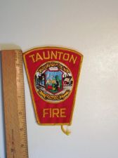 Buy 1980's Era Taunton Fire, MA Sew on Cheese Cloth Patch