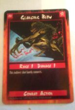 Buy Glancing Blow Trading Card Combat Action 1995 Rage 1 Damage 1