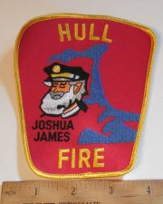 Buy 1980's Era Hull Fire, MA Sew on Cheese Cloth Patch