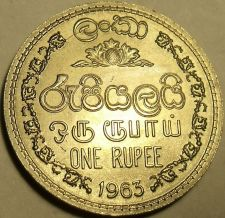 Buy Gem Unc 1963 Sri Lanka (Ceylon) 1 Rupee~1st Year Ever Minted~Free Shipping
