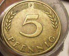Buy Rare Roll (50) Old Germany 1950 5 Pfennigs~Special Price~Valuable~Free Shipping~