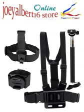 Buy 8 in 1 Kit For GoPro Cameras, Chest Harness, Head Strap, Wrist Strap, Wrench, P