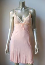 Buy IN009 Hanky Panky NEW Peach V Neck Stretch Modal Thermal Ivory Embroidery Chemise M
