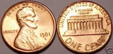 Buy 1981-D BRILLIANT UNCIRCULATED LINCOLN CENT~~FREE SHIP~~