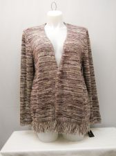 Buy SIZE 2XL Women's Wrap Swing Cardigan STYLE&CO. Sugarplum Fringe Hem Long Sleeves