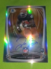 Buy NFL JEROME SMITH AUTOGRAPHED 2014 BOWMAN CHROME REFRACTOR RC MNT