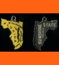 Buy Enamel & Sterling Florida Souvenir MAP CHARM