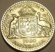 Buy Huge Unc Silver Australia1960 Florin~Minted In Melbourne~Free Shipping
