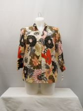 Buy Alfred Dunner Floral 3/4 Sleeves Collared Neck Button Down Shirt Size 18