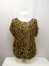 Buy PLUS SIZE 3X Womens Knit Tunic Top LOVE J Animal Print Scoop Neck Kimono Sleeves