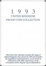 Buy 1993 Great Britain 8 Coin 2 Page C.O.A. Document Set~Free Shipping