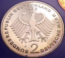 Buy Gem Cameo Proof Germany 1975-J 2 Marks~Konrad Adenauer~43k Minted~Free Shipping