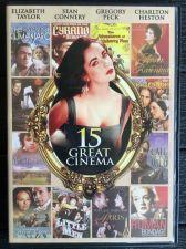 Buy 15 GREAT CINEMA 2 DVD ELIZABETH TAYLOR SEAN CONNERY GREGORY PECK CHARLTON HESTON