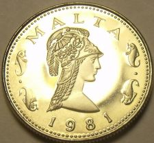 Buy Rare Proof Malta 1981 2 Cents~Penthesilea, Queen of the Amazons~1,453 Minted~F/S