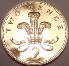 Buy Cameo Proof Great Britain 1985 2-Pence~Welsh Plume~Fantastic~Free Shipping