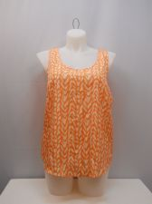 Buy SIZE XL Womens Woven Tank Top FADED GLORY Peach Geometric Scoop Neck Sleeveless