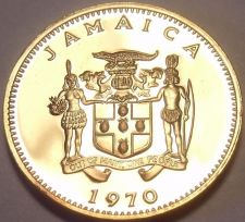 Buy Rare Proof Jamaica 1970 Cent~Ackee Fruit~Only 12,000 Minted~Free Shipping
