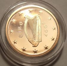 Buy EXTREMELY RARE IRELAND 2007 ENCAPSULATED CAMEO PROOF 2 EURO CENT~5K MINTED~FR/SH