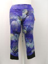 Buy SIZE XL Womens Athletic Capris AVIA Blue Stripe Inner Pocket Moisture Wicking
