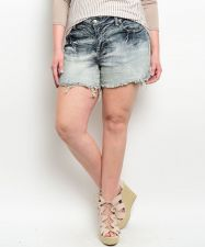 Buy Shop The Trends Women's Cut Off Denim Shorts Ombre Acid Washed Size 12-20