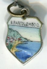Buy S BARTOLOMEO C Enamel & 800 Silver Travel Shield Souvenir Charm