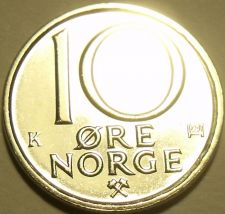 Buy Gem Brilliant Unc Norway 1991 10 Ore~Last Year Ever Minted~Excellent~Free Ship