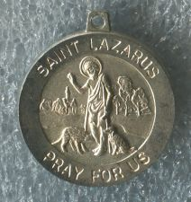 Buy St Saint Lazarus Pray for Us .. Catholic Sterling Silver Medal Charm