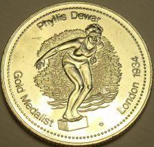 Buy Large Gem Unc Phyllis Dewar Gold Medalist Medallion~Excellent~Free Shipping