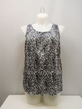Buy SIZE L Womens Peasant Tank Top FADED GLORY Animal Print Sleeveless Pullover