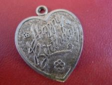 Buy Vintage Sterling Silver Love / Heart Shaped Charm by LAMODE